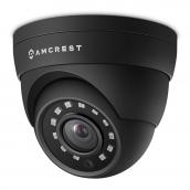 Amcrest UltraHD 1520P 2688TVL Dome Outdoor Security Camera, 4MP 2688x1520, 65ft Night Vision, Metal Housing, 2.8mm Lens, 99.7° Viewing Angle, Black (AMC4MDM28-B)