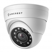 Amcrest UltraHD 1520P 2688TVL Dome Outdoor Security Camera, 4MP 2688x1520, 65ft Night Vision, Metal Housing, 2.8mm Lens, 99.7° Viewing Angle, Black (AMC4MDM28-W)