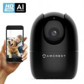 Amcrest SmartHome AI Human Detection WiFi Camera, Indoor Pan/Tilt Wireless IP Camera, Baby Monitor Mode, Auto-Tracking, Home Security Camera with Night Vision, Two-Way Audio, Nanny Cam ASH21-B (Black)