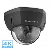 Amcrest UltraHD 4K (8MP) Dome POE IP Camera Security, 3840x2160, 98ft NightVision, 2.8mm Lens 112°, IP67 Weatherproof, IK10 Vandal Resistance, MicroSD Recording, Black (IP8M-2493EB)