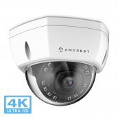Amcrest UltraHD 4K (8MP) Dome POE IP Camera Security, 3840x2160, 98ft NightVision, 2.8mm Lens, 105° FOV, IP67 Weatherproof, IK10 Vandal Resistance, Supports up to 256GB MicroSD Recording, White (IP8M-2493EW-V2)
