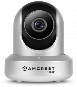 Amcrest 1080P WiFi Video Monitoring Security Wireless IP Camera with Pan/Tilt, Two-Way Audio, Plug & Play Setup, Optional Cloud Recording, Full HD 1080P (1920TVL) @ 30FPS, Super Wide 90° Viewing Angle and Night Vision IP2M-841S (Silver) (Certified Refurbi