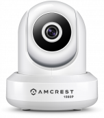 Amcrest 1080P WiFi Video Monitoring Security Wireless IP Camera with Pan/Tilt, Two-Way Audio, Plug & Play Setup, Optional Cloud Recording, Full HD 1080P (1920TVL) @ 30FPS, Super Wide 90° Viewing Angle and Night Vision IP2M-841W (White) (Certified Refurbis